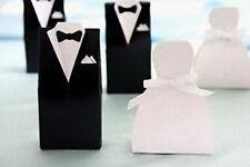 25 Bride Dress + 25 Groom Tuxedo Wedding Bomboniere Lolly Chocolate Boxes =50