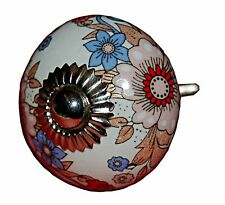 AS MANY* CERAMIC SHABBY CHIC VINTAGE STYLE PRINTED 4CM DOOR  KNOBS/HANDLES PULLS