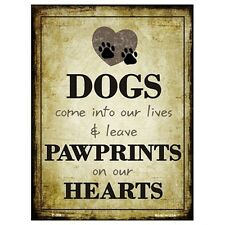 Parking Sign - Dogs Leave Pawprints On Our Hearts Wall Art Home Decor Picture Gi