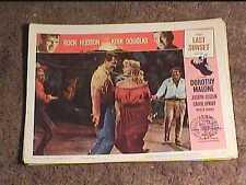 LAST SUNSET 1961 LOBBY CARD #8 WESTERN ROCK HUDSON