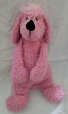 "Jellycat Bunglie Pink Poodle 17"" Puppy Dog Plush Stuffed Animal Curly"