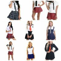 Women Adults Cosplay Costumes Anime Sailor Navy Uniforms High School Sets Outfit