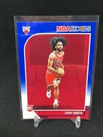 2019-20 Panini NBA Hoops #204 COBY WHITE Rookie Blue Parallel Chicago Bulls S65