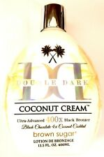 Brown Sugar Double Dark Coconut Cream 400X Black Bronzer Tanning Bed Lotion