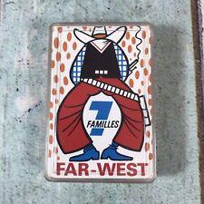 More details for vintage far west jeu des 7 familles french card game complete rare