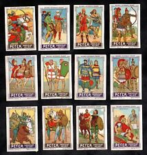 Ancient Military Uniforms Peter Swiss 1920 Stamp Card Set Soldier Army Egypt Hun