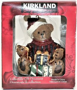 Kirkland Collectible Christmas Gift Ornament--Bear Presents