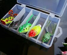 5PCS Topwater Mix Fish Fishing soft frog lure lures Bait Tackle box 14g