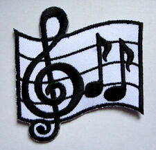 MUSICAL NOTATION MUSIC NOTE SIGN Embroidered Iron on Patch Free Postage