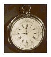 Vintage Pocket Watch Sepia DIGITAL Counted Cross-Stitch Pattern Needlepoint
