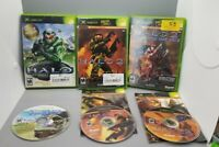 Lot Of 3 Halo 1 + 2 + Multiplayer Map Pack Microsoft Xbox Video Games Tested