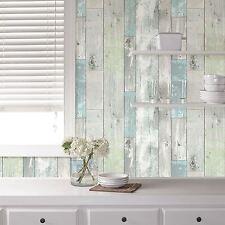 Nuwallpaper Beachwood realista de madera sintética cáscara y palillo Wallpaper 5M de largo NUEVO