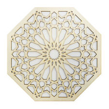 Moroccan Panel Laser Cut Decorative Carved Wooden Tile, Wall & Furniture Feature