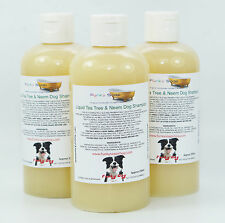 1 bottle liquid Tea Tree & Neem Oil Dog Shampoo 100% Natural Handmade 250ml