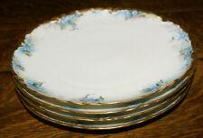 Haviland Limoges France Bone China * FOUR Forget Me Not Gilded Salad Plates