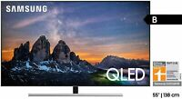 SAMSUNG GQ55Q80RGTXZG QLED TV (Flat, 55 Zoll, 138 cm, QLED 4K, SMART TV) , B