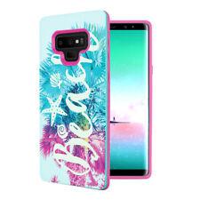 Cute Design Women Girls Pink Mint Case Cover Samsung Galaxy Note 9 - Beach Palm
