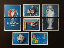 Panini UEFA Euro 2016 France Complete Front Page Rare 1 - 8 Stickers