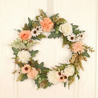Begonia Rose Flowers Garland Artificial Plants Wreath Wall Wedding Home Decor