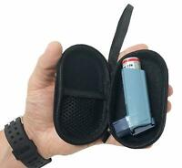 Agoz Asthma Inhaler Case Zippered Protective Medical Pouch Cover w/ Wrist Strap