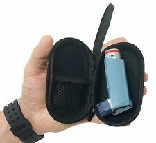 Agoz Asthma Inhaler Case Zippered Storage Box Medical Pouch Cover w/ Wrist Strap