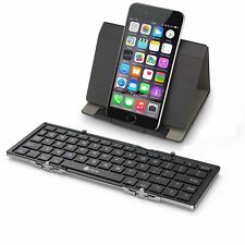 iClever Folding Bluetooth Keyboard Leather Case Stand Black BK03 iPhone Android