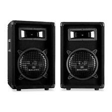 """2x ALTAVOCES PA DJ MALONE PW-0822 CAJA ACUSTICA 20CM (8"""") BAFLE BASS DRIVER 600W"""