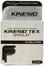 NEW Kinesio Tex Gold Finger Print Tape, Black FREE2DAYSHIP TAXFREE