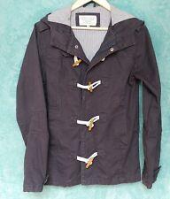 Brave Soul Women's Duffle Jacket XS Navy Cotton Hooded Nautical Walking Coat