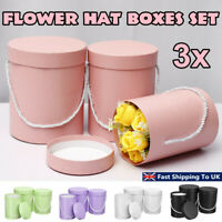 3Pcs Set Flower Hat Boxes Florist Christmas Floral Gifts Display With Handle