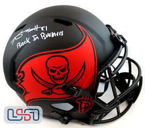 Antonio Brown Signed Buccaneers Full Size Speed Replica Eclipse Helmet JSA Auth