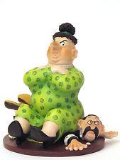 Albert Dubout *catch fèminin* dicke Frau u ihr kleines Männlein Skulptur 20609