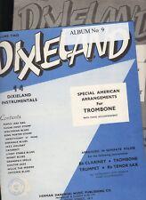 TROMBONE & PIANO 2-Music Book Set: 14 DIXIELAND INSTRUMENTALS Volume 1