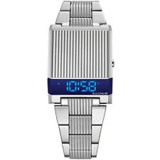 Bulova Men's Watch Computron Quartz Digital LED Dial Steel Bracelet 96C139