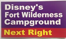 "Walt Disney World Road Sign Inspired Magnet 2"" X 3.5"" Fort Wilderness Campground"