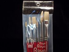 Royal Brush White Bristle Set - F Sizes 1, 2, 3, 4, 5, 6  ~ New in Package