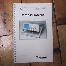 Oscilloscopio Tektronix 2205 ORIGINALE libretto di istruzioni Manuale utente