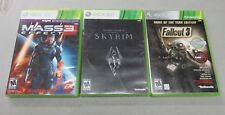 Xbox 360 Fallout 3 Game of the Year Edition Mass Effect 3 Elder Scrolls Skyrim