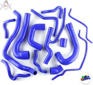 Blue For SAAB 9-3 1.8T 2.0T 2003-2014 Turbo Silicone Radiator Coolant Hoses Kit