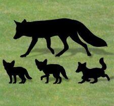 "**NEW** Handmade Lawn Art Yard Shadow Silhouette - Wild Fox Family 19"" x 47"" +"