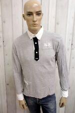 LA MARTINA Uomo T-Shirt Maglia Maglietta Casual Polo Manica Lunga Taglia M