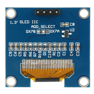1.3 inch IIC I2C SPI Serial 128X64 White OLED LCD Display Module For New