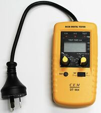 New Cat3 Pro Digital Earth Leakage RCD MCB RCBO Safety Switch Trip Tester Elcb