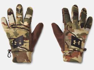 Under Armour Men's UA Coldgear Storm Hunt Early Season Fleece Camo Gloves