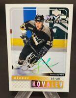 1999-00 Upper Deck MVP SC Edition Super Script #147 Alexei Kovalev 16/25