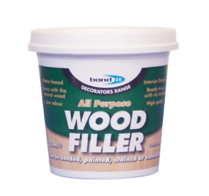 WOOD FILLER READY MIXED FILLER PAINTABLE MDF GSP FILLING 250 ML, BOND IT