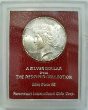 1926 S Peace Silver Dollar MS Redfield Collection Paramount Hoard Red Holder