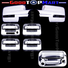 For Ford F150 2009-2014 Chrome Covers Set Full Mirrors+ 4 Doors+Tailgate Camera