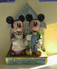 "Jim Shore Walt Disney Showcase ""Homegrown Mickey And Minnie"""
