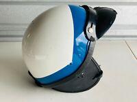 Vintage Premier Crown C-2 Police Motorcycle Helmet blue white